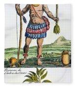 Aztec: Chocolate, 1685 Fleece Blanket