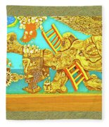 Aztec Fantasy Fleece Blanket