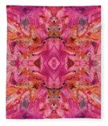 Aztec Kaleidoscope - Pattern 009 - Crimson Fleece Blanket