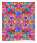 Aztec Kaleidoscope - Pattern 015 Fleece Blanket