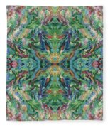 Aztec Kaleidoscope - Pattern 018 - Earth Fleece Blanket