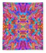 Aztec Kaleidoscope - Pattern 030 Fleece Blanket