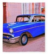Azul Cobalto Fleece Blanket