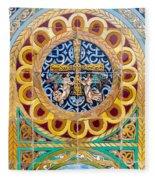 Azulejo - Colorful Details Fleece Blanket