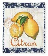 Azure Lemon 2 Fleece Blanket by Debbie DeWitt