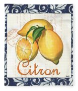 Azure Lemon 2 Fleece Blanket