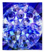 Azure Orb Of Midas Fleece Blanket