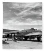 B-17  Black  Fleece Blanket