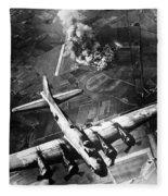 B-17 Bomber Over Germany  Fleece Blanket