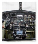 B-17 Cockpit Fleece Blanket