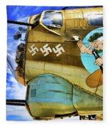 B-17 Paint  Fleece Blanket