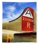 B-17 Tail Wwii Fleece Blanket