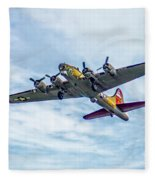 B-17g Flying Fortress In Flight  Fleece Blanket