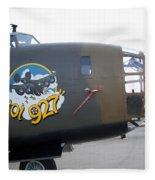 B-24 Nose Art Fleece Blanket