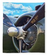 B-25 Engine Fleece Blanket