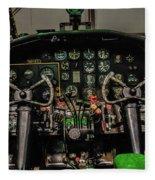 B-25 Mitchell Cockpit Fleece Blanket