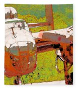 B-25 Red B Fleece Blanket
