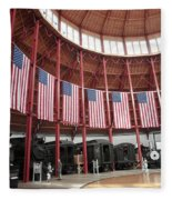 B And O Museum Roundhouse In Baltimore Maryland Fleece Blanket