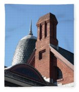B And O Railroad Station In Oakland Maryland Fleece Blanket