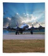 B17 Landing Fleece Blanket