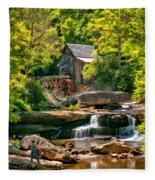 Babcock State Park Wv 2 - Paint Fleece Blanket