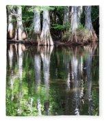 Babcock Wilderness Ranch - Alligator Lake Reflections Fleece Blanket