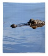 Babcock Wilderness Ranch - Alligator Lake - Waiting For Prey Fleece Blanket