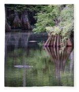 Babcock Wilderness Ranch - Peaceful Alligator Lake Fleece Blanket
