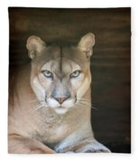 Babcock Wilderness Ranch - Portrait Of Oceola The Panther Fleece Blanket