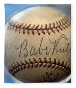 Babe Ruth Baseball. Fleece Blanket