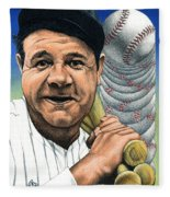 Babe Ruth Fleece Blanket