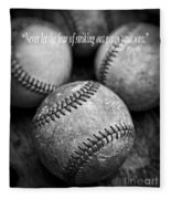 Babe Ruth Quote Fleece Blanket