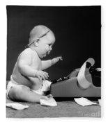 Baby Accountant Fleece Blanket