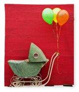 Baby Buggy With Red Wall Fleece Blanket