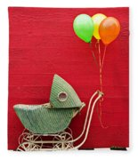 Baby Buggy With Red Wall Fleece Blanket