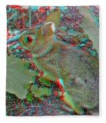 Baby Bunny - Use Red-cyan 3d Glasses Fleece Blanket