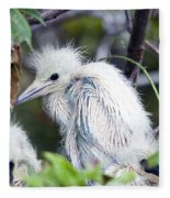 Baby Egret Fleece Blanket