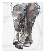 Baby Elephant Study Fleece Blanket