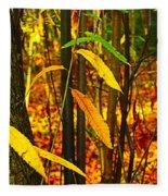 Baby Tree Foliage Fleece Blanket