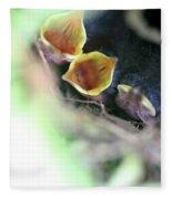 Baby Wrens In The Flowers 338 Fleece Blanket