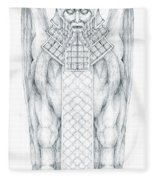 Babylonian Sphinx Lamassu Fleece Blanket