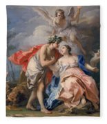 Bacchus And Ariadne Fleece Blanket