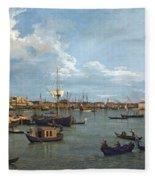 Bacino Di San Marco From Canale Della Giudecca Fleece Blanket