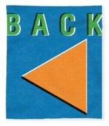 Back Button Fleece Blanket
