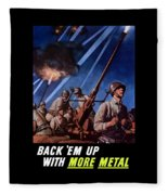 Back 'em Up With More Metal  Fleece Blanket