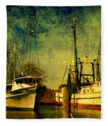 Back Home In The Harbor Fleece Blanket