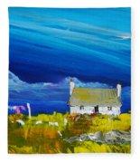 Back  Of Keppoch Cottage, Arisaig Fleece Blanket