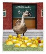 Back To School Little Duckies Fleece Blanket