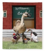 Back To School Time Fleece Blanket