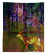Back To The Forest Fleece Blanket
